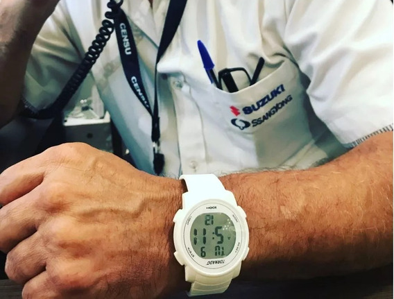 Relógio Masculino Digital Esporte Borracha Prova Água Led