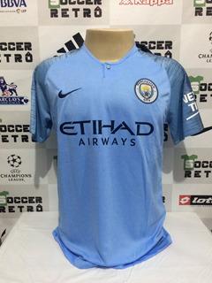 Camisa Manchester City 2018-19 Aguero 10 P. League À P/ Ent