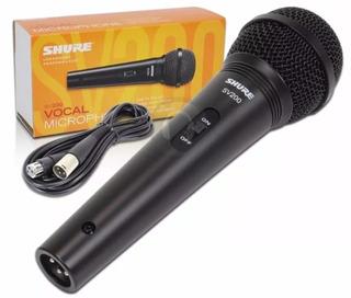 Micrófono De Mano Dinámico Shure Sv200 Con Cable Vocal