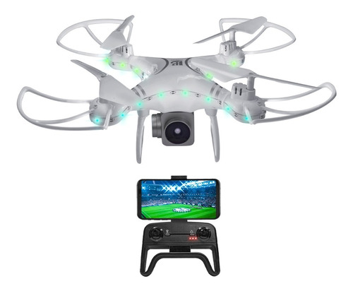 Drone Cuadricoptero Cámara Hd Transmite Vivo Pantalla Lcd