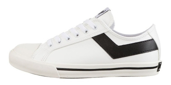 Zapatillas Pony Shooter Ox New Pele Blanco/negro Sport Town