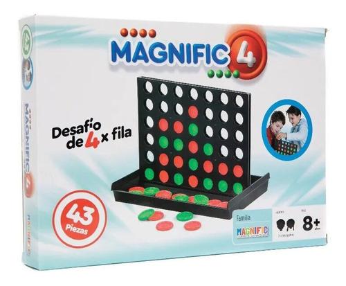 Juego De Mesa 4 En Linea Magnific 43 Piezas Toy 2039