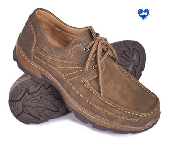 Zapato Mocasin Hombre Cuero Modelo Leñador De Shoes Bayres