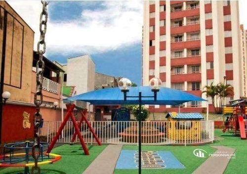 Apartamento Com 2 Dormitórios À Venda, 54 M² Por R$ 205.000,00 - Jardim Do Estádio - Santo André/sp - Ap0581