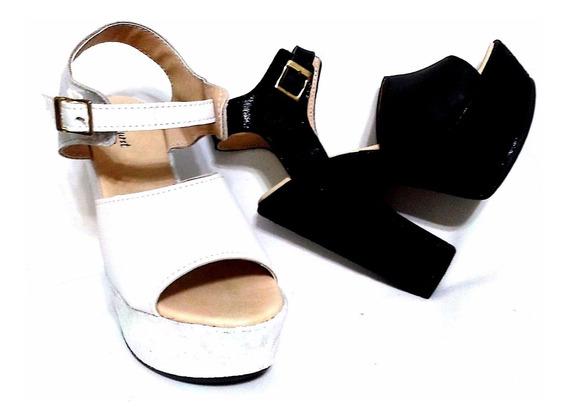 Zapato Plataforma Madera Elastico Taco Mujer Fiorcalzados
