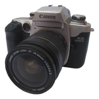 Cámara Analogica Canon Eos Elan Ii /50 Con 28-80 Y 100-300