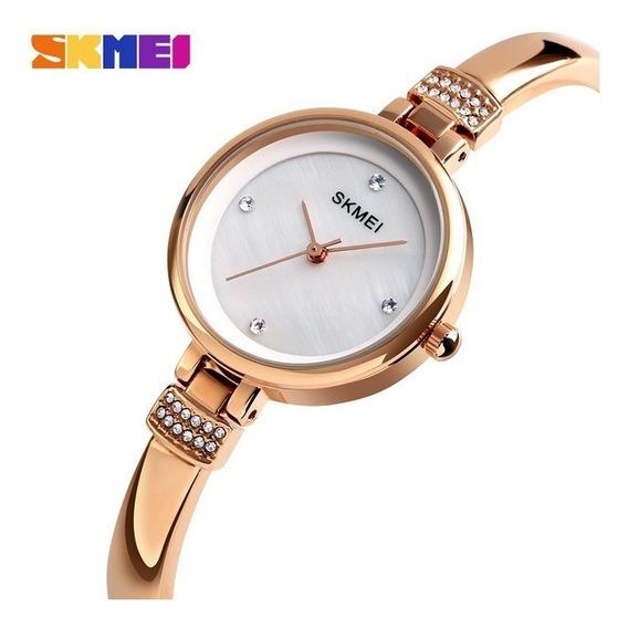 Relógio Feminino Skmei 1409 Luxuoso Frete Grátis Envio 24h