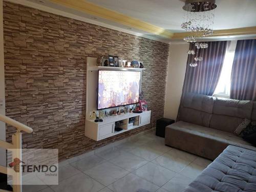 Imagem 1 de 21 de Imob01 - Sobrado 130 M² - Venda - 3 Dormitórios - 1 Suíte - Vila Linda - Santo André/sp - So0281