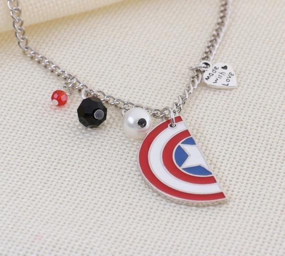 Collar Del Capitán América & Soldado Del Invierno
