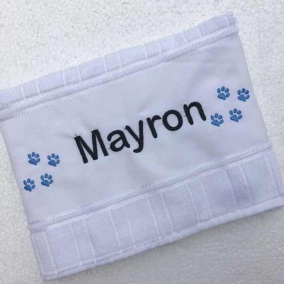 Toalha Pet Personalizada Luxo Filhotes Banho Cães Barato
