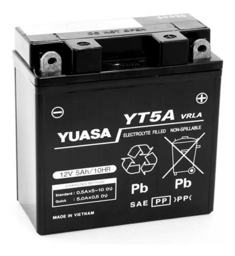 Imagen 1 de 2 de Bateria Yuasa Yt5a Yb5l-b Gel Yamaha Ybr 125 Xtz 125 - Cuo