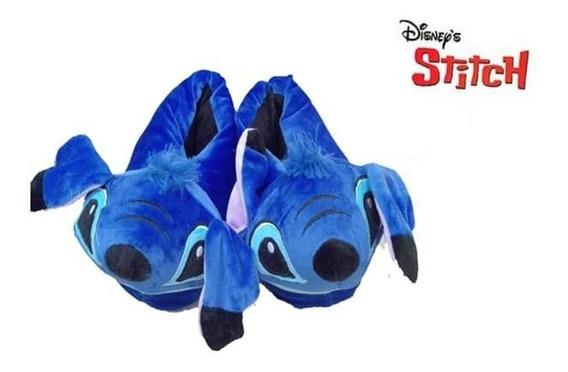 Babuchas Stitch Azul Pantuflas Stitch (stich)