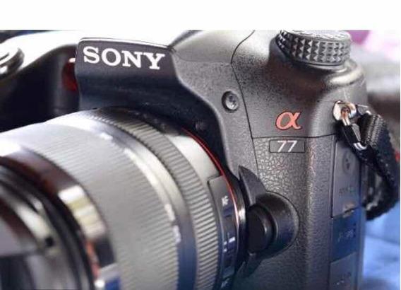 Câmera Sony Alpha A77v + Lente 18-135mm (seminovas)