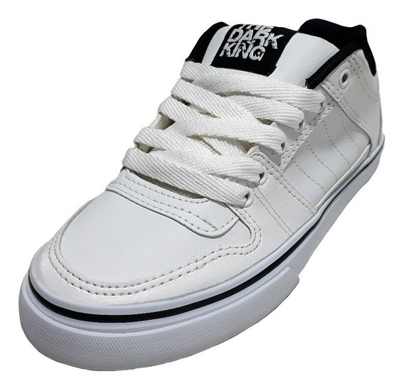 Zapatillas The Dark King. Skate. Hip Hop. Freack. Blanca