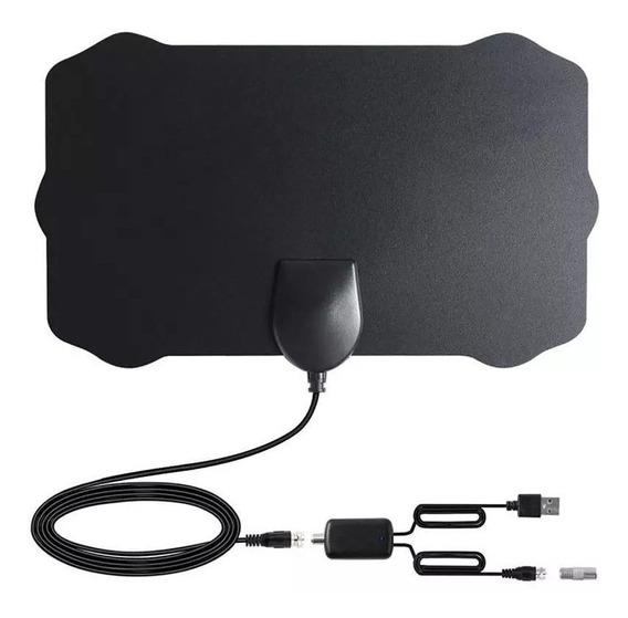 Antena Digital Interna Com Amplificador De Sinal Hdtv 4k