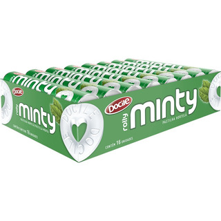 Pastilha Minty Rolly Hortelã Docile - Caixa 16 Unid. De 29g
