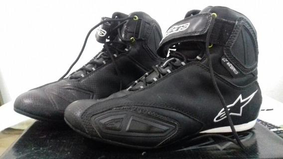 Tenis Alpinestars Fastlane Shoe Black Br - Usado 2x!!!