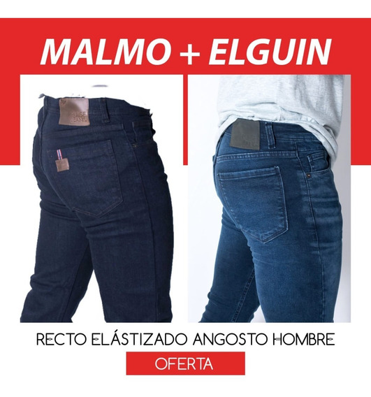 Promo X 2 Jeans Recto Elastizado Hombre Malmo + Elguin
