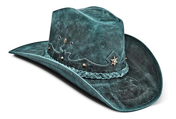 Chapeu Feminino Country Couro Americano Cowboy Rodeio Texas