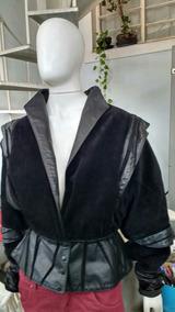Jaqueta De Couro Legítimo Fashion Ggs