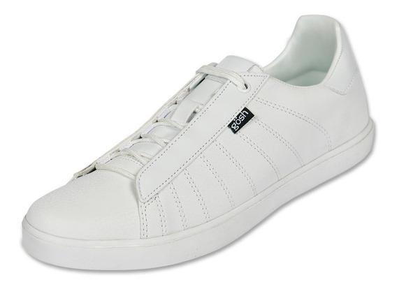 Calzado Hombre Caballero Tenis Gosh Tipo Piel Blanco Cómodo