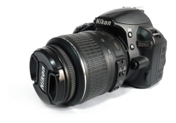 Câmera Nikon D3100 + Lente 18-55, Bateria, Carregador E Alça