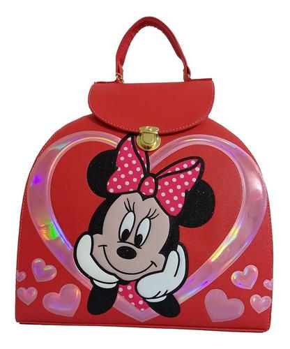 Imagen 1 de 8 de Bolsa - Mochila Para Dama En Rojo, De Disney (minnie Mouse)