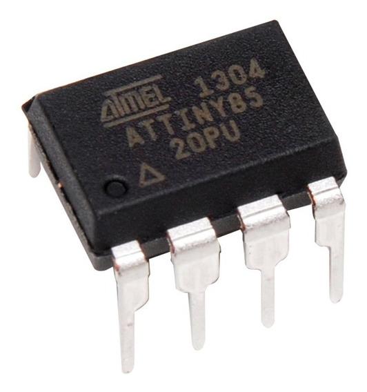 Microcontrolador Atmel Attiny85-20pu Avr 20mhz Arduino Gtia