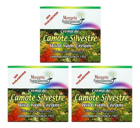 (3 Piezas) Crema De Camote Silvestre 120gr Margaritanate