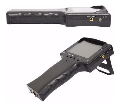 Testador De Câmeras Cftv Com Monitor 3,5 Analógico