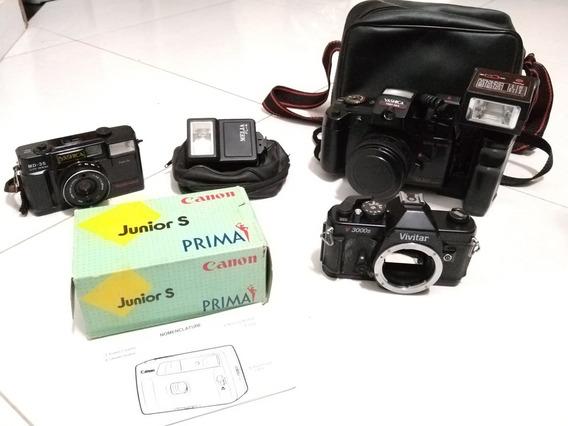 Vendo Lote De Câmeras E Acessórios Fotográficos.