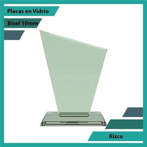 Placas Conmemorativas En Vidrio Rizco Plano