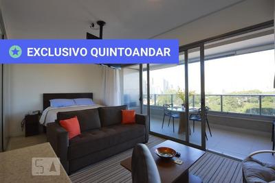 Studio No 8º Andar Mobiliado Com 1 Dormitório E 1 Garagem - Id: 892935126 - 235126