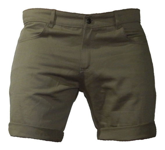 Shorts Bermuda Gabardina Colores Hasta Talle: 56 Jeans710