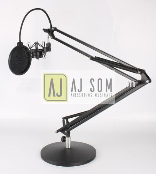 Haste Flexível,articulada De Mesa C/base P/rádio,studio-1 M