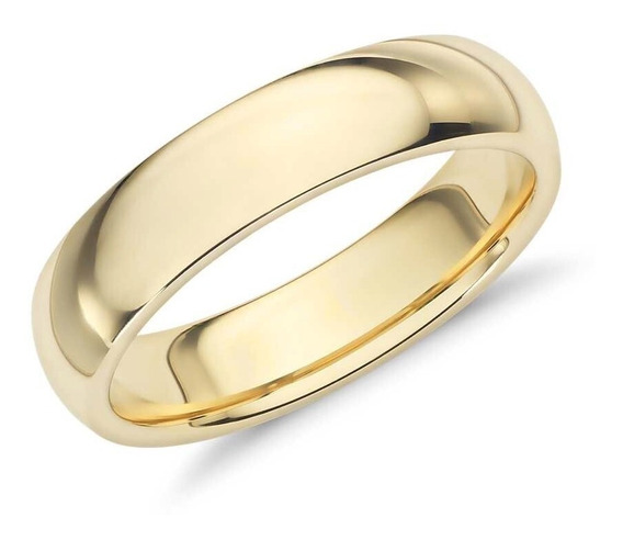 Argolla Confort Baño De Oro Rosa Anillo Matrimonio 8310075