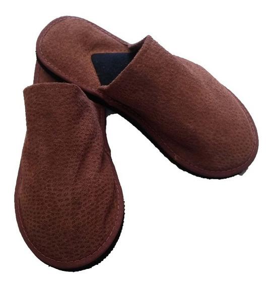 Pantufla Hombre Chinela De Cuero - Lubeca Marroquineria
