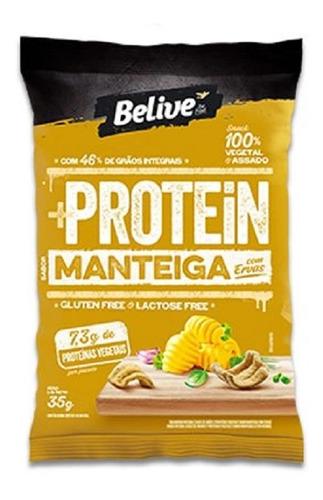 Imagem 1 de 1 de Snack +protein Manteiga Com Ervas Belive 35g