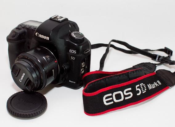 Câmara 5d Mk Ii Usada+lente50mm1.8+grip2baterias,+32gbcf