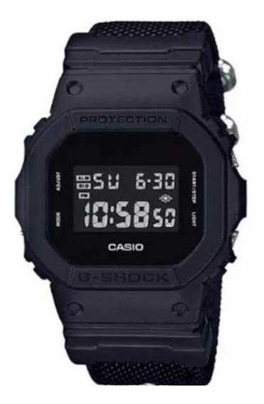Relogio Casio G-shock Dw-5600bbn Pulseira Tecido Dw-5600e-