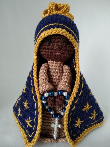 Nossa Senhora Aparecida Em Crochê Amigurumi