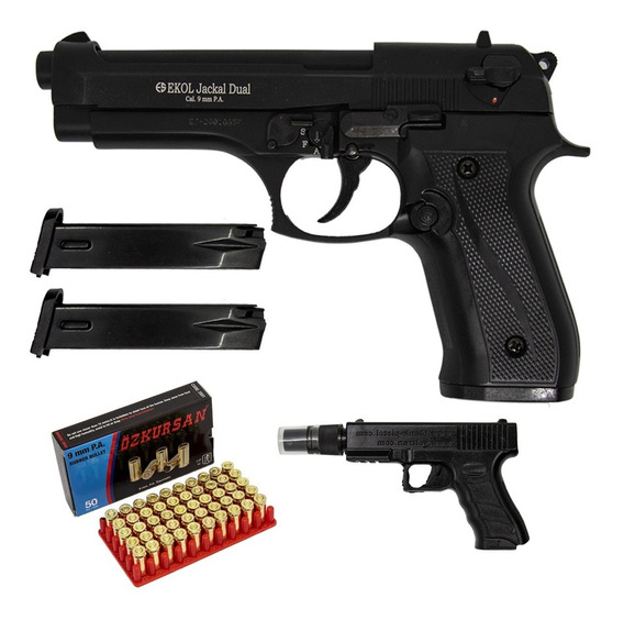 Pistola Traumática Ekol® Jackal Dual Automática Con 50 Balas