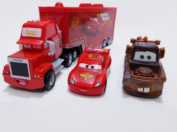 Caminhão Mack + Mate Importado + Mcqueen Do Carros 2 Mattel