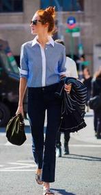 Camisa Listrada Social Feminino Ralph Lauren Moda
