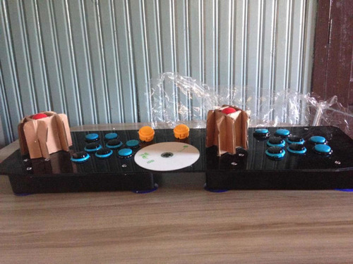 Fliperama Portátil Controle Arcade P/2 Joga-pc Ps3 Projetor