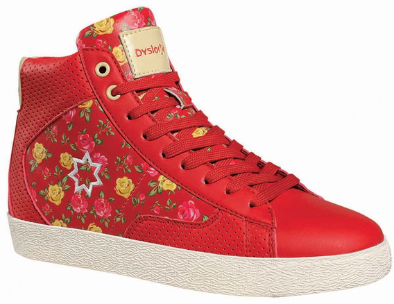 Zapatillas Bota Mujer Casual Urbana Dysloke Flower 4145
