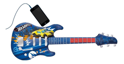 Guitarra Infantil Musical Hot Wheels Com Sons De Verdade Fun