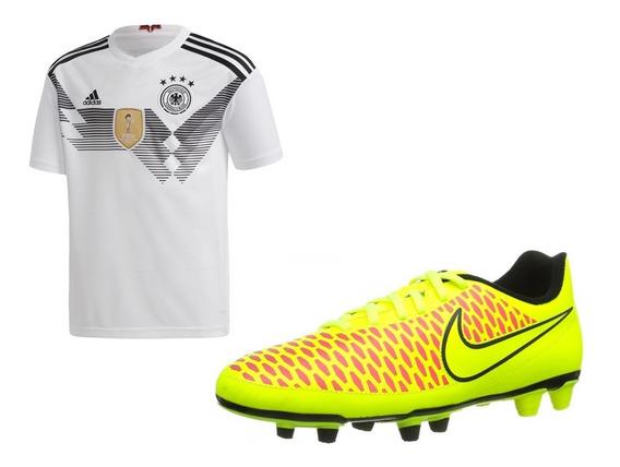 Oferta Kit Jersey Alemania + Taco Nike Magista Fg Jshoes