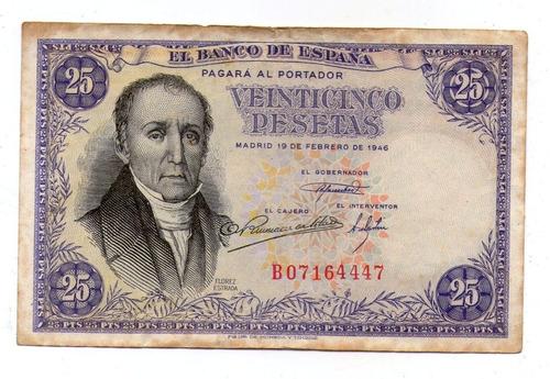 España Billete 25 Pesetas 1946 P#130a - Argentvs