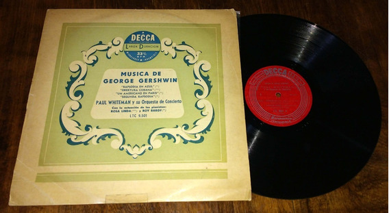 Paul Whiteman Musica De George Gershwin Disco Vinilo Lp